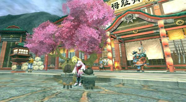 基本プレイ無料のノンターゲティングアクションRPG『X.A.O.C(ザオック)』 酔っぱらいを退治して「桜花プレゼント箱」をゲットしよう!イベント「桜祭り」を開催したよ