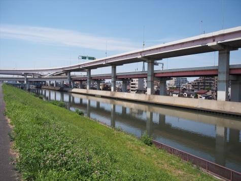 綾瀬川&首都高速 堀切JCT