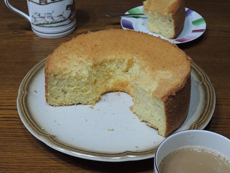 シフォンケーキの完成