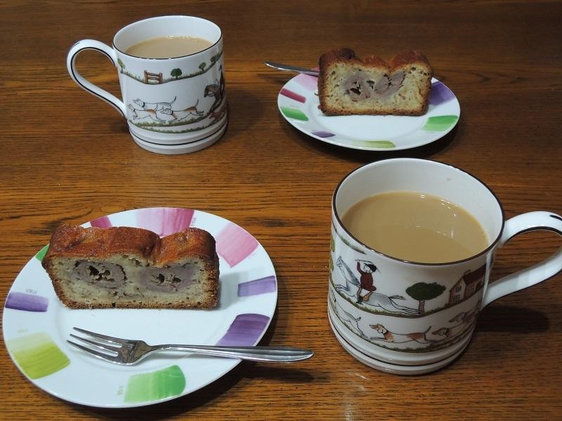 珈琲とバナナのパウンドケーキ