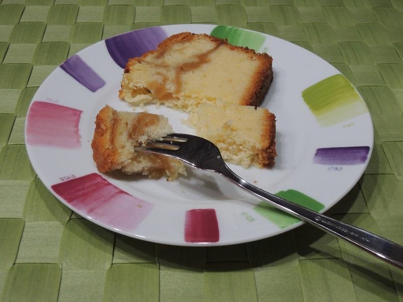 パウンドケーキをいただきます