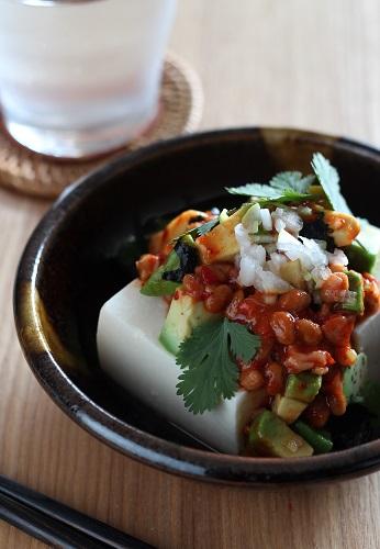 チャンジャ納豆アボ豆腐1
