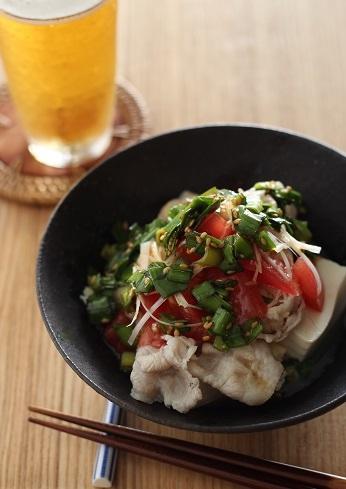ニラだれトマト豆腐