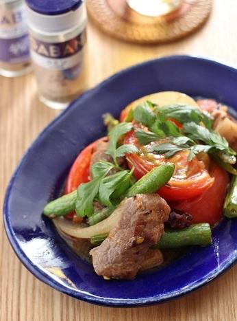 ラム肉とトマトのクミン焼き2