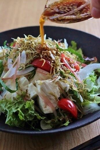 ちりめん豆腐サラダ2