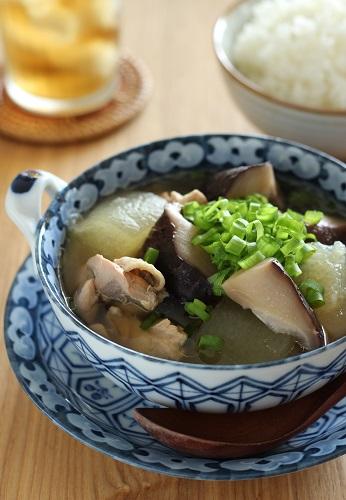 椎茸と冬瓜のスープ煮1