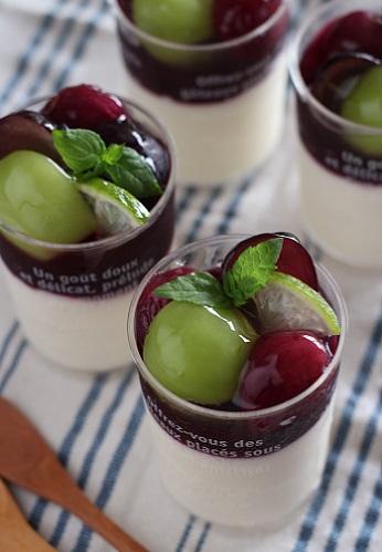 ぶどうのヨーグルトムース2