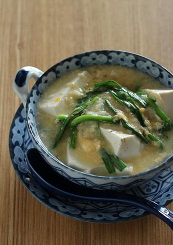 ニラ玉豆腐