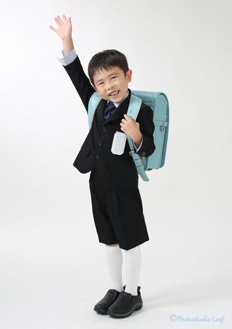 入学写真 男の子 ランドセル