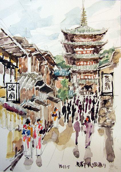 181105京都八坂通り・八坂の塔