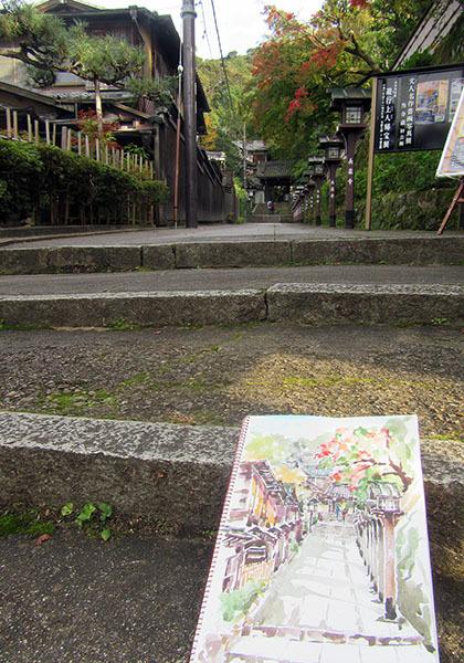 181107京都長楽寺でスケッチ