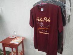 【写真】ポレポレTシャツを販売している様子