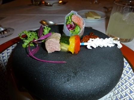 ホテル川久夕食13
