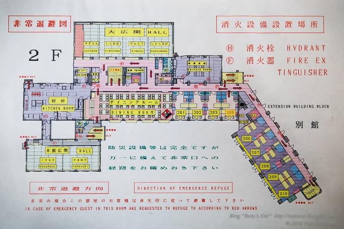 白樺湖グランドホテル_2階地図