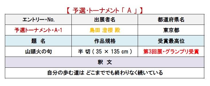 個表A-1