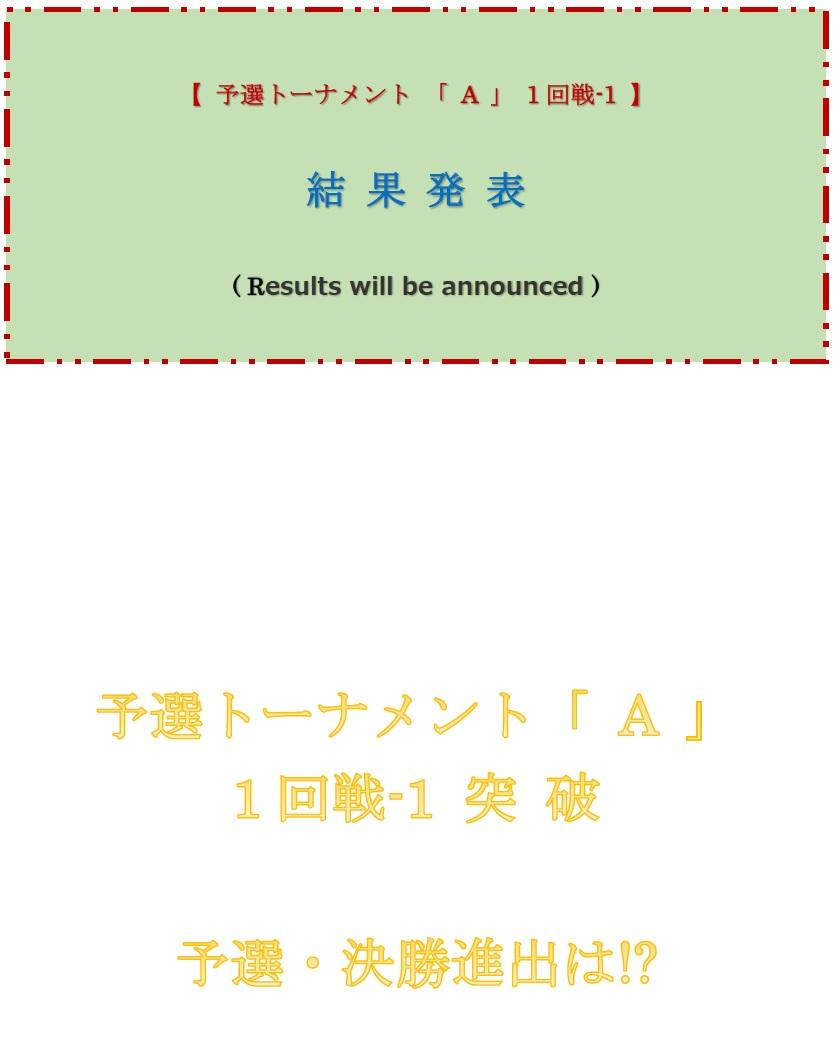 予選トーナメント・結果発表ボード