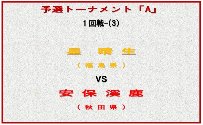 予選トーナメント・ボード