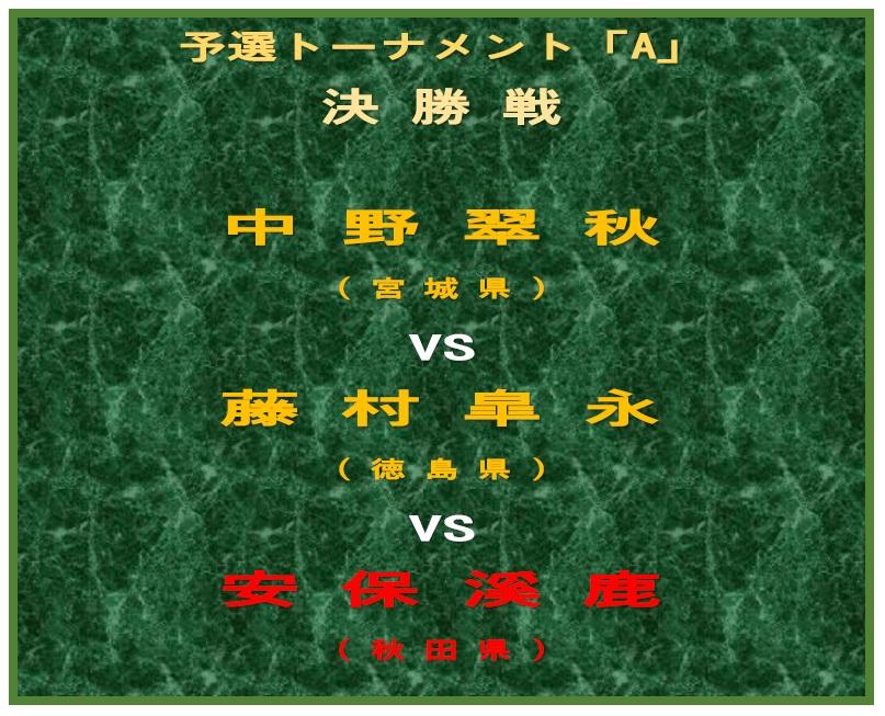 予選決勝-A-対戦ボード