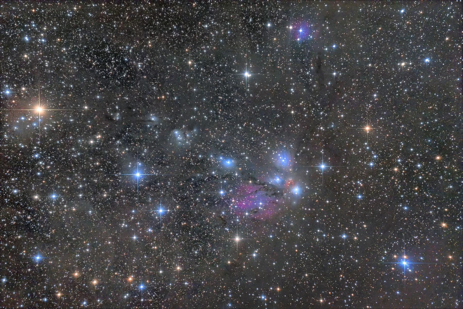 【星雲】いっかくじゅう座 NGC2170付近