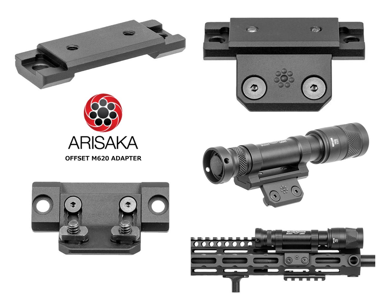 8 実物 ARISAKA DEFENSE LLC OFFSET SCOUT MOUNT M-LOK SUREFIRE M600 M300 SCOUTLIGHT アリサカ オフセット スカウト ライト マウント 購入 開封