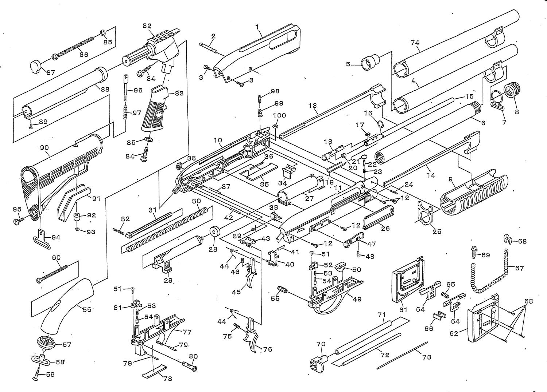 001 MALZEN CA870 PARTS LIST マルゼン CA870 パーツ リスト MALZEN 『CA870チャージャー』 を 『CA870ソードオフ』 へ改造計画!! トリガー&トリガーガード交換編!!
