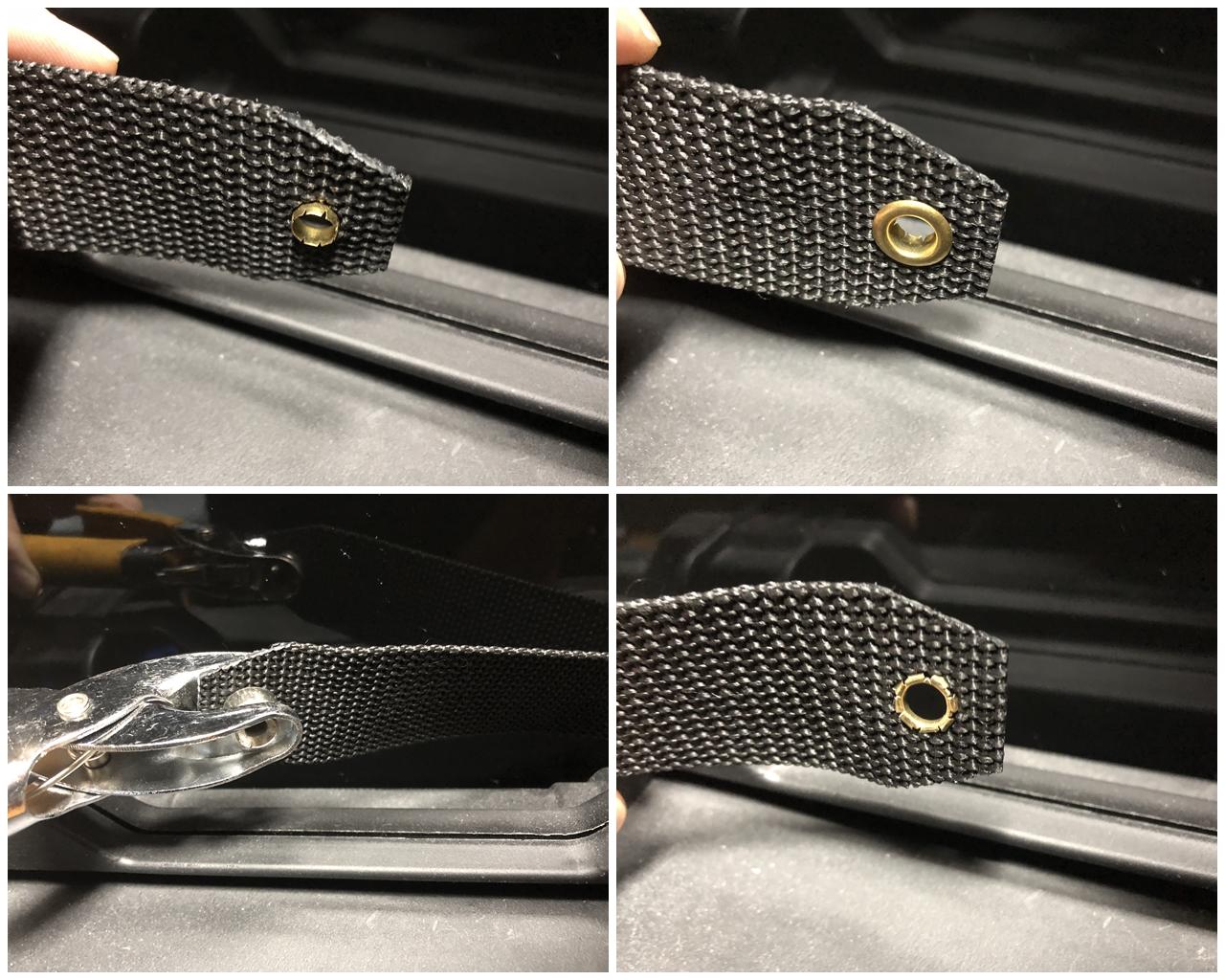 4 マルゼン CA870 フォアエンド カスタム DIY ORIGINAL RAPTOR STRAP KIT 870 FOREND オリジナル ストッパー バンド ベルト パット 加工 取付 結果 レビュー したるの巻