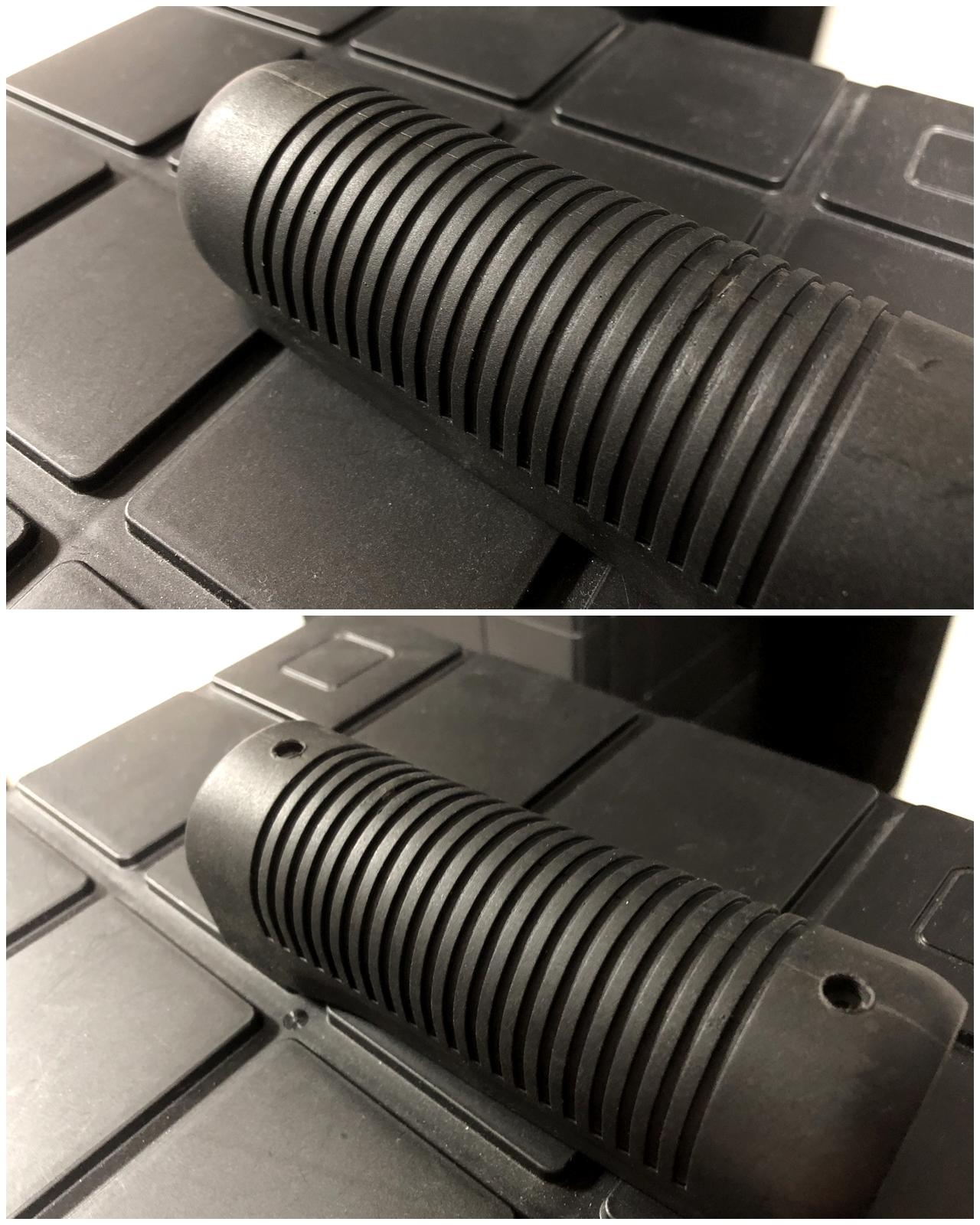 8 マルゼン CA870 フォアエンド カスタム DIY ORIGINAL RAPTOR STRAP KIT 870 FOREND オリジナル ストッパー バンド ベルト パット 加工 取付 結果 レビュー したるの巻