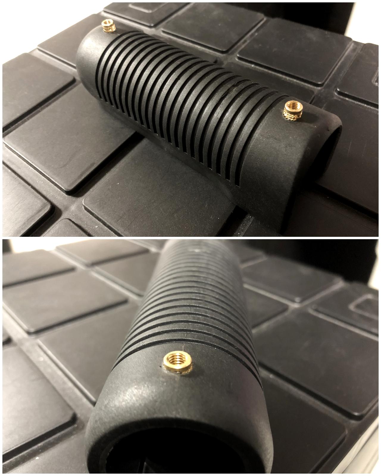 10 マルゼン CA870 フォアエンド カスタム DIY ORIGINAL RAPTOR STRAP KIT 870 FOREND オリジナル ストッパー バンド ベルト パット 加工 取付 結果 レビュー したるの巻