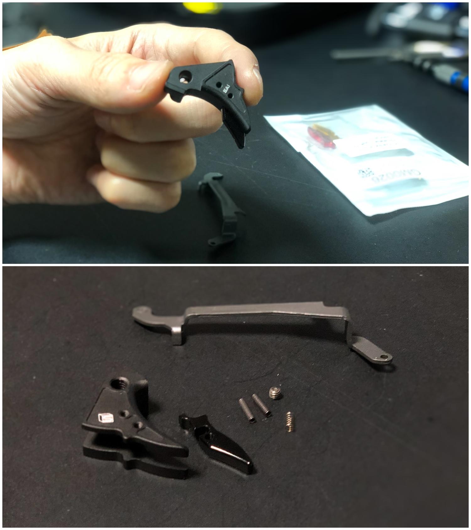 18 GunsModify GLOCK SAI アジャスタブルトリガー Ver3 GM0026 GM0079 に交換してみた! GLOCK G18C カスタム 購入 分解 取付 交換 取付方法 レビュー!!
