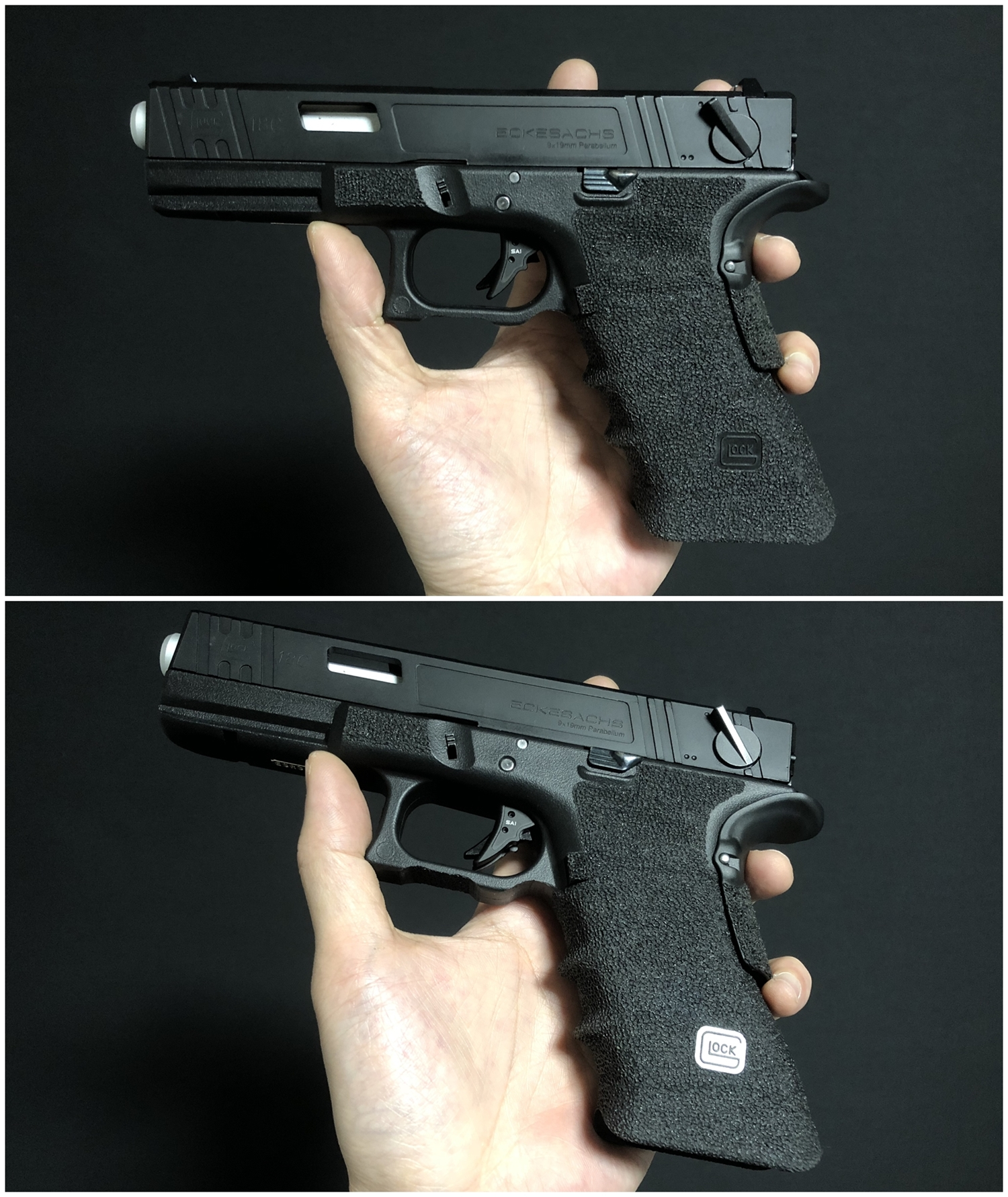24 GunsModify GLOCK SAI アジャスタブルトリガー Ver3 GM0026 GM0079 に交換してみた! GLOCK G18C カスタム 購入 分解 取付 交換 取付方法 レビュー!!