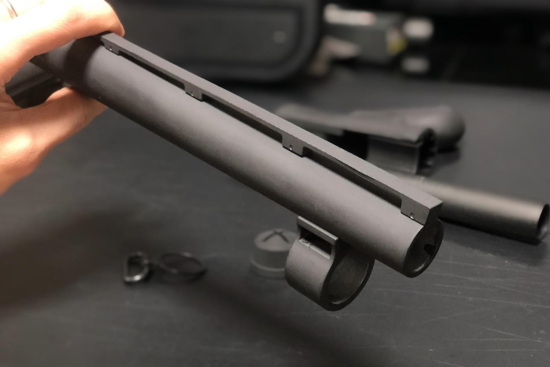 6 MALZEN CA870 アウターバレル カスタム!! G&P製 M870 Mad Dog リアル ショート アウターバレルを付けて見た!! G&P Shotgun CA870 Mad Dog Type Front Set Short GP806A 購入 取付 レビュー