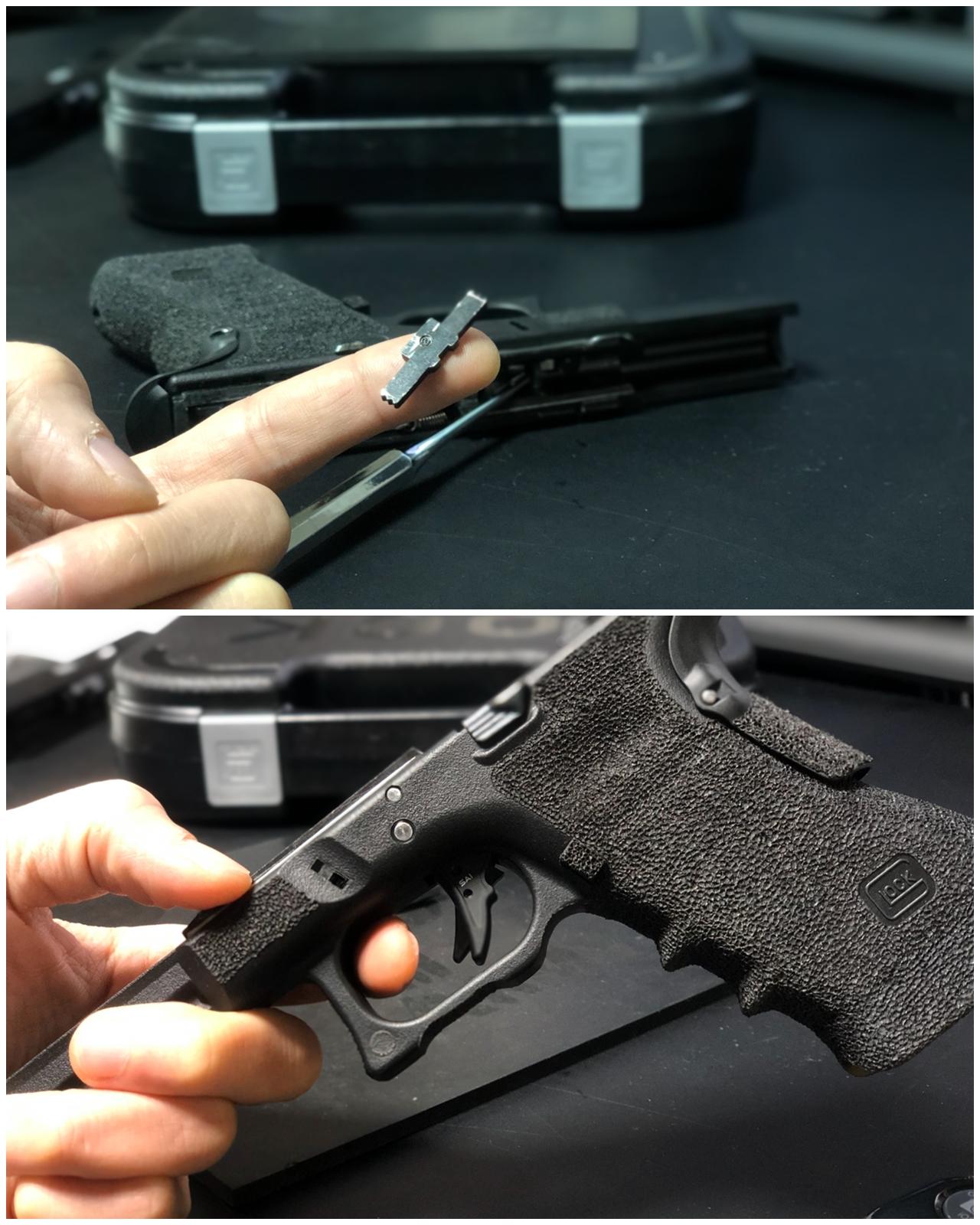 3 GLOCK G18C カスタムしたるぞー!!続編!! Guns Modify ステンレス フレーム ロックピン & エクステンドスライドロック!! 購入 取付 交換 カスタム レビュー!!