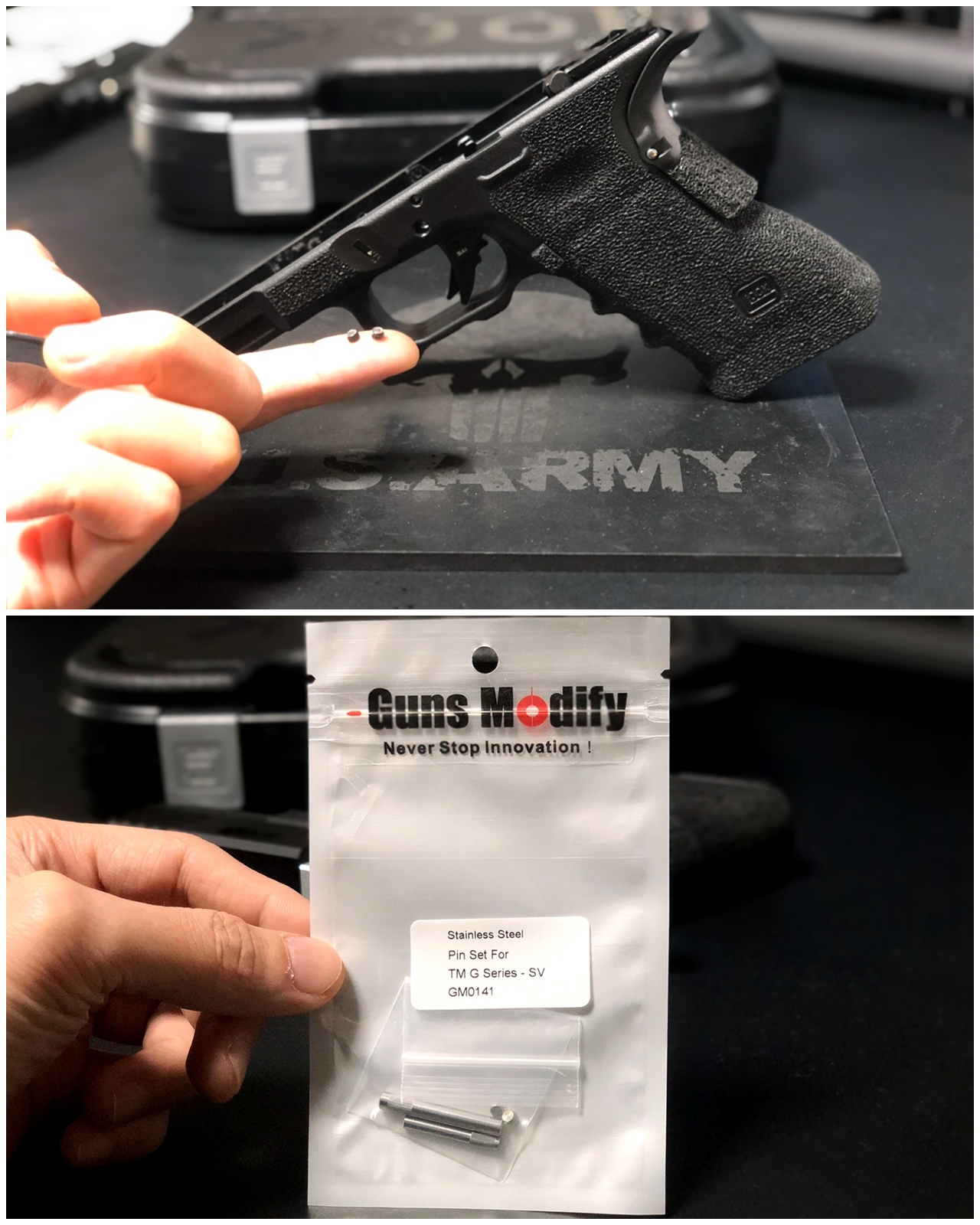 6 GLOCK G18C カスタムしたるぞー!!続編!! Guns Modify ステンレス フレーム ロックピン & エクステンドスライドロック!! 購入 取付 交換 カスタム レビュー!!
