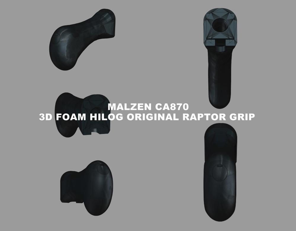 1 マルゼン CA870 HILOG オリジナル ラプターグリップ 3D 強化版 & スリングアダプター!! CA870 カスタム続編!! 改造計画 第三弾の巻!!