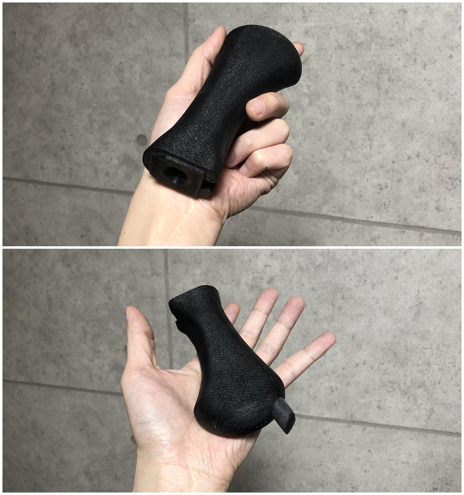 8 マルゼン CA870 HILOG オリジナル ラプターグリップ 3D 強化版 & スリングアダプター!! CA870 カスタム続編!! 改造計画 第三弾の巻!!