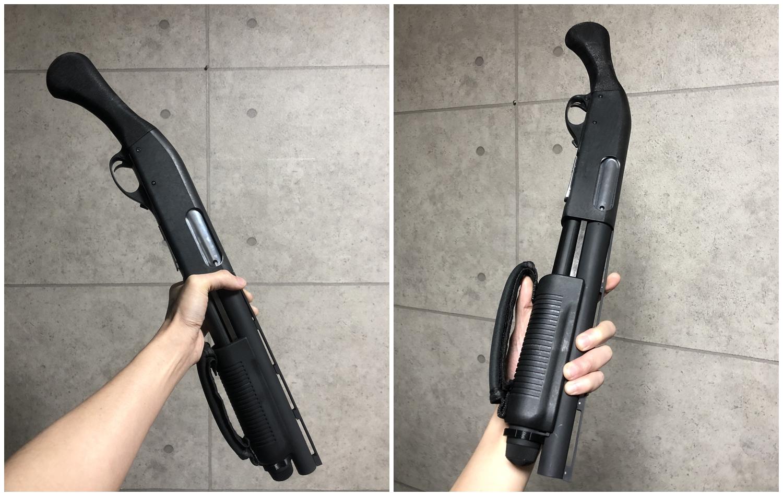 9 マルゼン CA870 HILOG オリジナル ラプターグリップ 3D 強化版 & スリングアダプター!! CA870 カスタム続編!! 改造計画 第三弾の巻!!