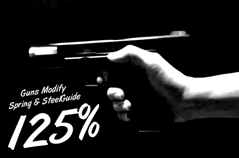 00000 東京マルイ GLOCK 17 アルミスライドがキレキレなブローバックに進化!! 『Guns Modify 125% リコイルスプリングリコイルスプリング+スチールガイド & ハンマースプリング GM0136』 を装着!! カスタム 取付 比