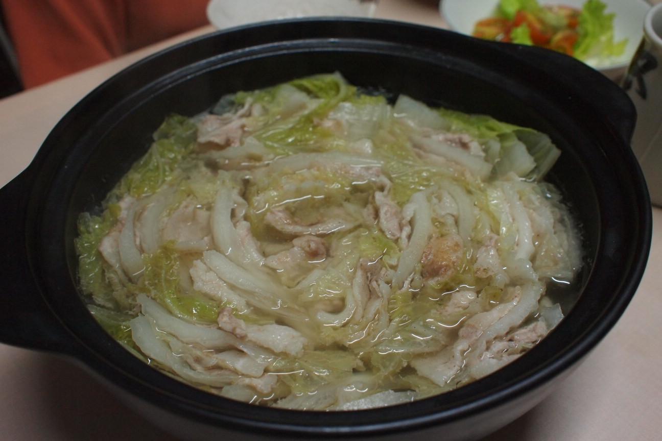 豚バラと白菜鍋