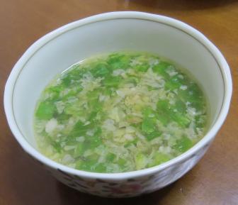玉レタス入りスープ