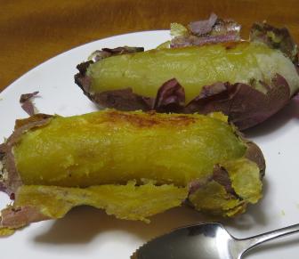 電子レンジ焼き芋の中身