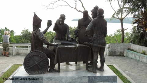 Blood Compact statue, Bohol