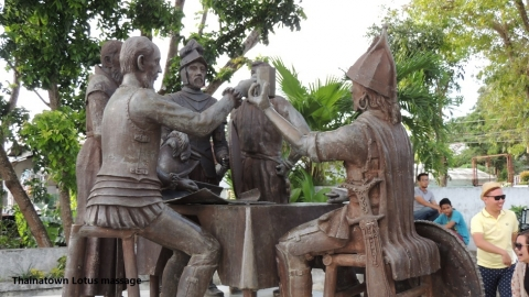 Blood Compact statue, Bohol