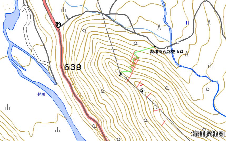 直路城地形図