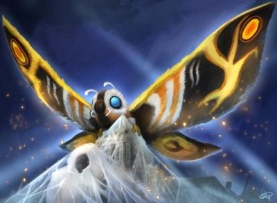 【悲報】ハリウッド版モスラさんのデザイン、ただの蛾になってしまう
