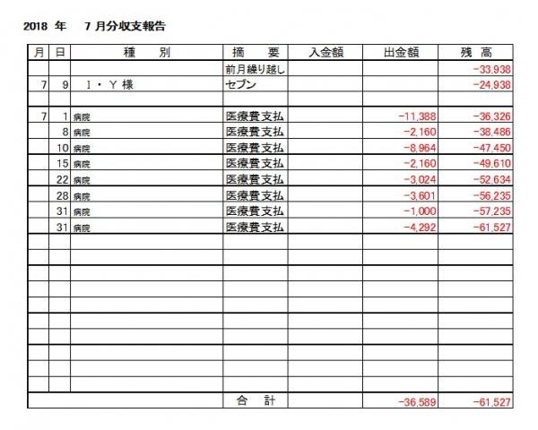 収支報告18-07月分